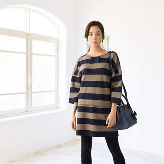 To Be Chic (トゥー ビー シック) - TO BE CHIC 【WEB限定】【Tricolore】クラブポンチボーダーチュニックカットソー