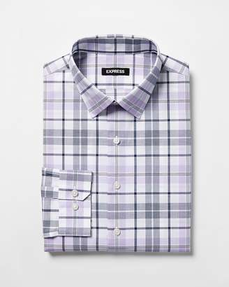Express Extra Slim Multicolor Plaid Dress Shirt