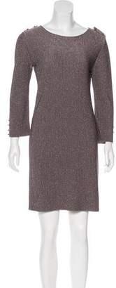 Fendi Metallic Mini Dress