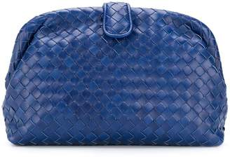 Bottega Veneta Cobalt blue Intrecciato nappa top the Lauren clutch
