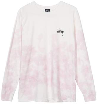 Stussy Natural Pink Small Stock L S Tee - L - White/Pink