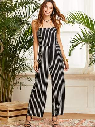 Shein SBetro Striped Wide Leg Cami Jumpsuit