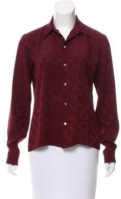 Ralph Lauren Textured Button-Up Top