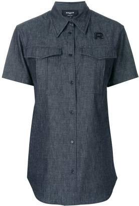 Rochas short sleeve denim shirt