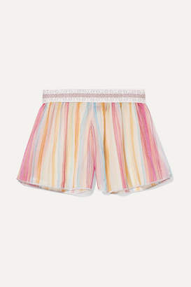Missoni Mare Metallic Crochet-knit Shorts - Pink
