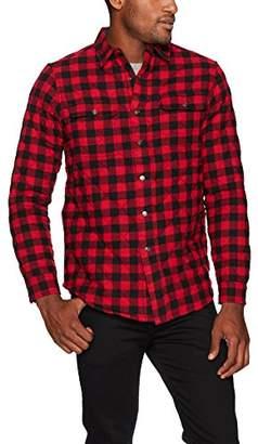 Tailor Vintage Men's Quilted Reversible Flannel Shirt Jacket