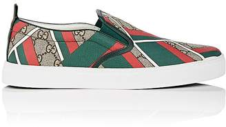Gucci MEN'S DUBLIN COATED CANVAS SNEAKERS