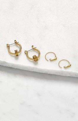 LUV AJ Ombre Bar Hooks Earring Set
