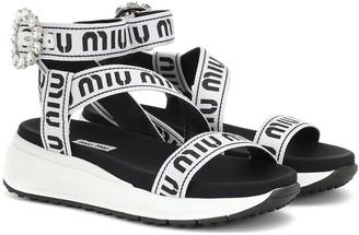 Miu Miu Logo sandals