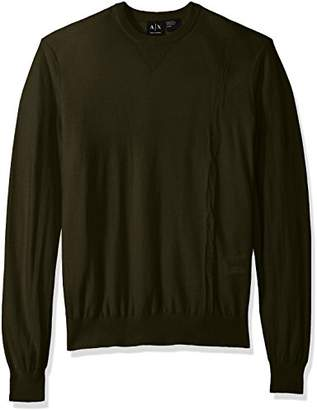 Armani Exchange A|X Men's Long Sleeve Crew Neck Pullover Knit Reg Fit