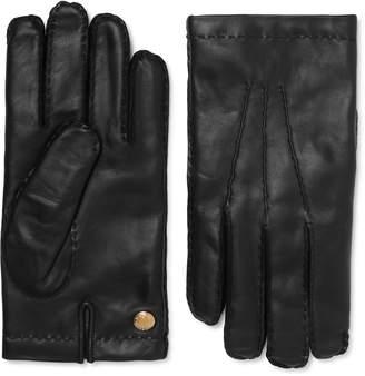 Tom Ford Cashmere-Lined Leather Gloves - Men - Black