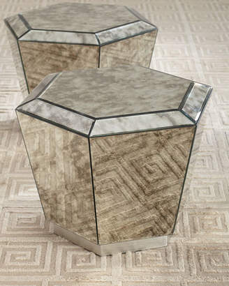 Marcell Antiqued Mirrored Bunching Coffee Table