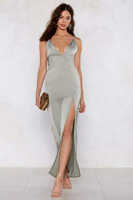 Nasty Gal Take the Plunging Maxi Dress