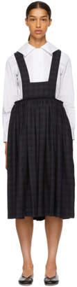 Comme des Garcons Navy Suspender Skirt