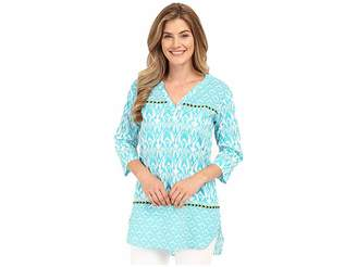 Hatley Turquoise Ikat Women's Beach Tunic Women's Clothing