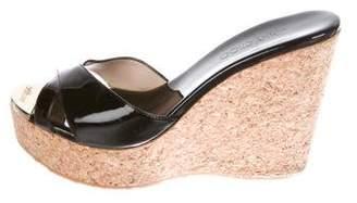 Jimmy Choo Patent Leather Platform Wedges