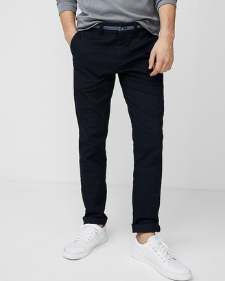Express Skinny Chambray Trim 365 Comfort Stretch+ Chino