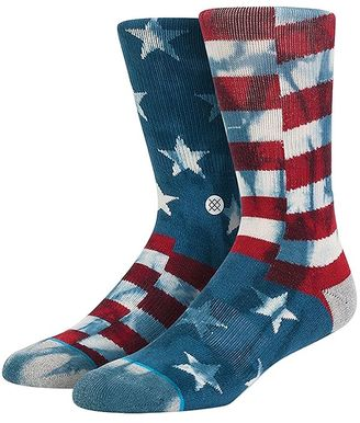 Banner American Flag Cotton Blend Socks $16 thestylecure.com