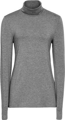Reiss Charlie - Jersey Rollneck Top in Grey