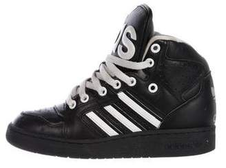 7d408bf7d400 Jeremy Scott x Adidas Leather High-Top Sneakers