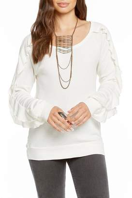 Chaser Long-Sleeve Ruffle Top