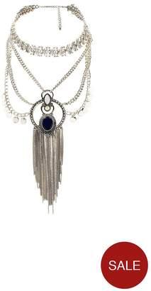 Very Rhinestone Ethnic Collar Necklace