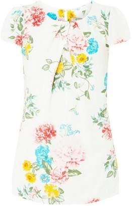 Dorothy Perkins Womens **Billie & Blossom Tall White Short Sleeve Shell Top