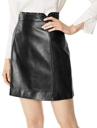 Karen Millen Studded Leather Mini Skirt