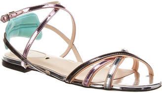 Fendi Laminated Leather Sandal