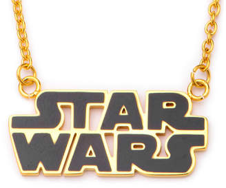 Star Wars FINE JEWELRY Gold IP Stainless Steel Logo Cutout Pendant Necklace