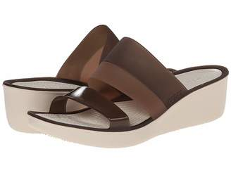 Crocs Color Block Translucent Mini Wedge Women's Wedge Shoes