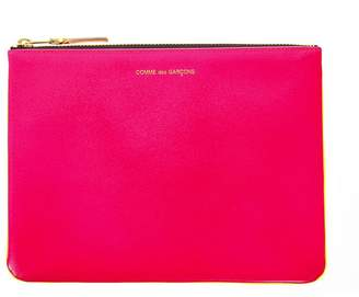 Comme des Garcons Fluo Pink & Yellow Leather Wallet