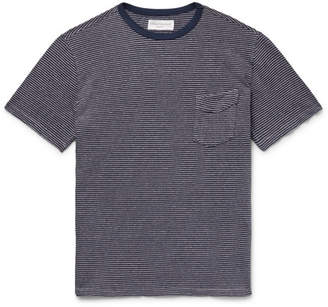Officine Generale Striped Cotton And Linen-blend Jersey T-shirt