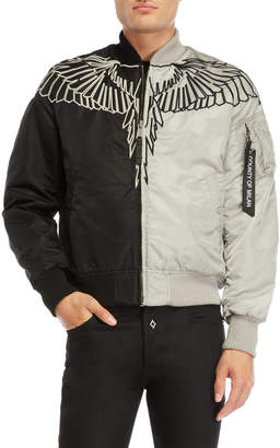 Marcelo Burlon County of Milan Talka MA-1 Two-Tone Bomber Jacket
