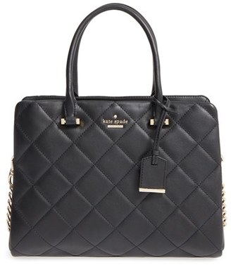 Kate Spade New York 'Emerson Place - Olivera' Quilted Leather Satchel - Black $448 thestylecure.com