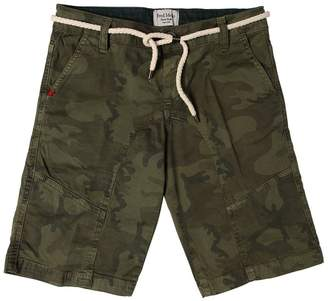 Fred Mello Camo Stretch Cotton Gabardine Shorts