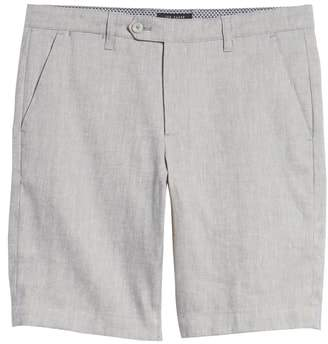 Ted Baker Newshow Flat Front Stretch Cotton Blend Shorts
