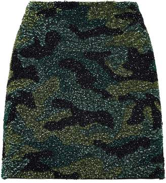 Alice + Olivia Sequin Camouflage Skirt