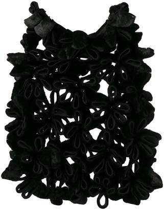 Comme des Garcons floral brocade design cape