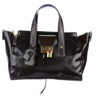 Marc Jacobs Leather Embossed-Trim Satchel w/ Tags