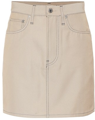 Helmut Lang Cotton-blend denim miniskirt