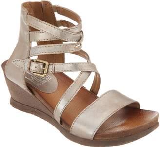 Miz Mooz Leather Multi Strap Wedge Sandals - Shay