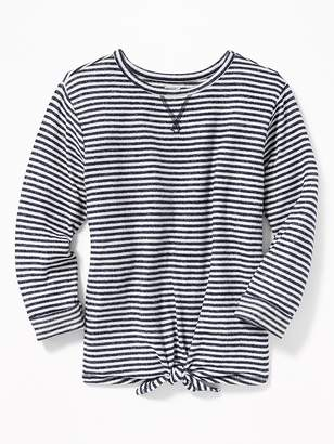 Old Navy Plush-Knit Tie-Front Top for Girls