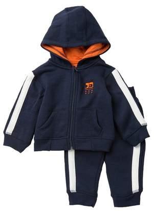 Joe's Jeans Marled Fleece Front Zip Hoodie & Sweatpants Set (Baby Boys)