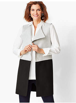 Talbots Colorblock Wool-Blend Vest