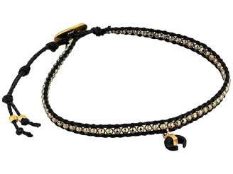 Chan Luu Pyrite Horn Charm Single Wrap Bracelet