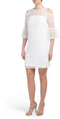Cold Shoulder Chemical Lace Dress