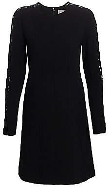 Lela Rose Women's Embroidered Cutout Wool Crepe Tunic Dress
