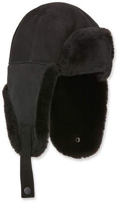 UGG Men's Shearling-Lined Sheepskin Trapper Hat