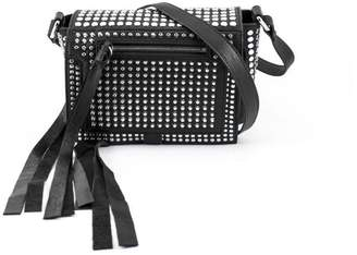 Alexander McQueen Black Leather Loveless Mini Cross-body With Studs